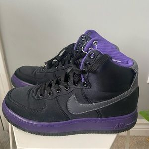Black And Purple Air Force 1s High Top